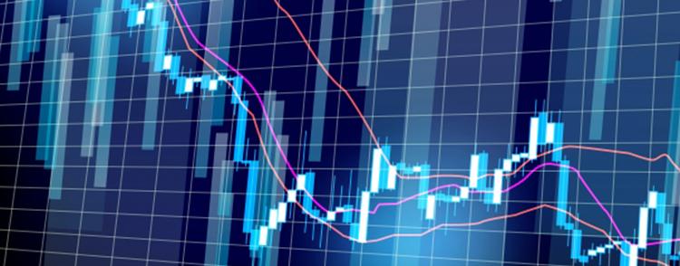 上下する株価チャート